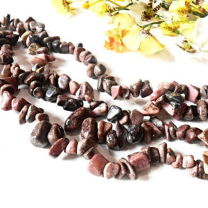 Shop Rhodonite Chip Beads! Raw Rhodonite Chips Beads Cut Rough Pink Brown Gemstone Loose Pebble Natural Mineral Gem 8-12 mm 36 inch Strand Nugget Tumbled Stone Crystal | Natural genuine chip Rhodonite beads for beading and jewelry making.  #jewelry #beads #beadedjewelry #diyjewelry #jewelrymaking #beadstore #beading #affiliate