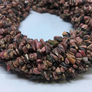 Shop Rhodonite Chip Beads! Rhodonite chips beads,rhodonite 36 inch chips beads | Natural genuine chip Rhodonite beads for beading and jewelry making.  #jewelry #beads #beadedjewelry #diyjewelry #jewelrymaking #beadstore #beading #affiliate