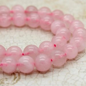 Shop Rose Quartz Beads! Rose Quartz Smooth Round Natural Gemstone Beads (4mm 6mm 8mm 10mm) | Natural genuine beads Rose Quartz beads for beading and jewelry making.  #jewelry #beads #beadedjewelry #diyjewelry #jewelrymaking #beadstore #beading #affiliate #ad