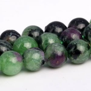 Ruby Zoisite Beads Grade AA Genuine Natural Gemstone Round Loose Beads 4MM 6MM 8MM 10MM 12MM Bulk Lot Options | Natural genuine round Ruby Zoisite beads for beading and jewelry making.  #jewelry #beads #beadedjewelry #diyjewelry #jewelrymaking #beadstore #beading #affiliate #ad