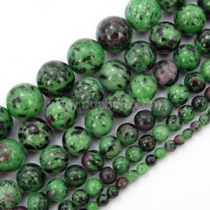 U Pick Top Quality Natural Ruby Zoisite Gemstone 4mm 6mm 8mm 10mm Round Gems Stone Beads 15 Inch Per Strand For Jewelry Craft Making Gy13 | Natural genuine round Ruby Zoisite beads for beading and jewelry making.  #jewelry #beads #beadedjewelry #diyjewelry #jewelrymaking #beadstore #beading #affiliate #ad