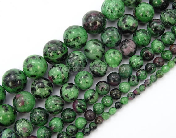 U Pick Top Quality Natural Ruby Zoisite Gemstone 4mm 6mm 8mm 10mm Round Gems Stone Beads 15 Inch Per Strand For Jewelry Craft Making Gy13