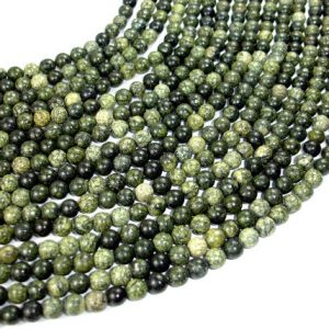Russian Serpentine Beads, Round, 6 mm, 15.5 Inch, Full strand, Approx 62 beads, Hole 1 mm (395054003) | Natural genuine round Serpentine beads for beading and jewelry making.  #jewelry #beads #beadedjewelry #diyjewelry #jewelrymaking #beadstore #beading #affiliate #ad