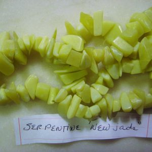 "Shop Serpentine Chip & Nugget Beads! Serpentine ""New Jade"" Pale Green Gemstone Nugget Chip Beads 5mm to 13mm size – Loose Beads, 1 Strand, 17 Inches 