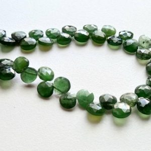 Shop Serpentine Bead Shapes! 4 Inch Russian Serpentine Beads, Serpentine Faceted Heart Beads, Russian Serpentine Necklace, 7-8mm, 20 Pcs – A1J7 | Natural genuine other-shape Serpentine beads for beading and jewelry making.  #jewelry #beads #beadedjewelry #diyjewelry #jewelrymaking #beadstore #beading #affiliate