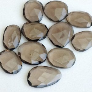 Shop Smoky Quartz Stones & Crystals! 12-18mm Smoky Quartz Cabochons, Smoky Quartz Rose Cut Flat Back Cabs, Loose Smoky Quartz Gems For Jewelry (5Pcs To 10Pcs Options)  – KS3170 | Natural genuine stones & crystals in various shapes & sizes. Buy raw cut, tumbled, or polished gemstones for making jewelry or crystal healing energy vibration raising reiki stones. #crystals #gemstones #crystalhealing #crystalsandgemstones #energyhealing #affiliate #ad