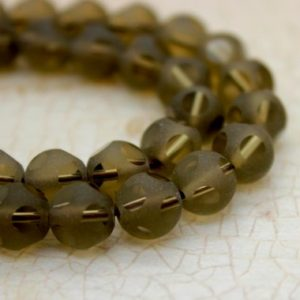 Shop Smoky Quartz Faceted Beads! Smoky Quartz Round Ball Sphere Faceted Gemstone Beads (4mm 6mm 8mm 10mm) – Full Strand | Natural genuine faceted Smoky Quartz beads for beading and jewelry making.  #jewelry #beads #beadedjewelry #diyjewelry #jewelrymaking #beadstore #beading #affiliate #ad