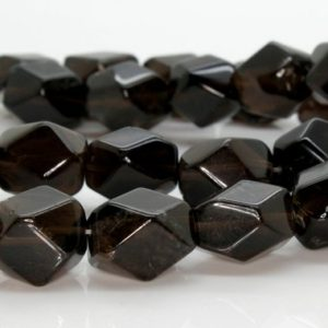 Shop Smoky Quartz Beads! Smoky Quartz Transparent Oval Faceted Beads Natural Stone Gemstone (Full Strand – 12mm x 16mm) | Natural genuine beads Smoky Quartz beads for beading and jewelry making.  #jewelry #beads #beadedjewelry #diyjewelry #jewelrymaking #beadstore #beading #affiliate #ad