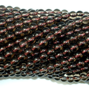 Shop Smoky Quartz Round Beads! Smoky Quartz, 4mm (4.6mm) Round Beads, 15.5 Inch, Full Strand, Approx 87 Beads, Hole 0.8 Mm, Aa Quality (408054004) | Natural genuine round Smoky Quartz beads for beading and jewelry making.  #jewelry #beads #beadedjewelry #diyjewelry #jewelrymaking #beadstore #beading #affiliate #ad