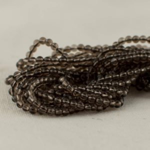 "Shop Smoky Quartz Round Beads! High Quality Grade A Natural Smoky Quartz Semi-precious Gemstone Round Beads – 2mm – 15.5"" Long 