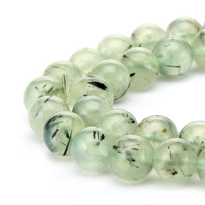 "Prehnite Smooth Round Beads 6mm 8mm 10mm 12mm 14mm 15.5"" Strand 