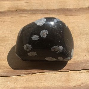 Shop Snowflake Obsidian Gemstones! SNOWFLAKE OBSIDIAN Crystal Tumbled Gemstone / Healing Crystal | Natural genuine gemstones & crystals in various shapes & sizes. Buy raw cut, tumbled, or polished for making jewelry or crystal healing energy reiki stones. #crystals #gemstones #crystalhealing #crystalsandgemstones #energyhealing #affiliate