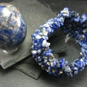 Shop Sodalite Bracelets! Sodalite Genuine Bracelet ~ 7 Inches ~ Tumbled Beads | Natural genuine Sodalite bracelets. Buy crystal jewelry, handmade handcrafted artisan jewelry for women.  Unique handmade gift ideas. #jewelry #beadedbracelets #beadedjewelry #gift #shopping #handmadejewelry #fashion #style #product #bracelets #affiliate #ad