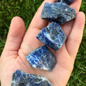 Raw Sodalite – rough sodalite healing crystal – sodalite crystal – throat chakra – healing crystal gemstone – reiki – crystals | Natural genuine stones & crystals in various shapes & sizes. Buy raw cut, tumbled, or polished gemstones for making jewelry or crystal healing energy vibration raising reiki stones. #crystals #gemstones #crystalhealing #crystalsandgemstones #energyhealing #affiliate #ad