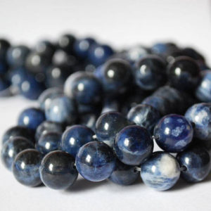 "Shop Sodalite Round Beads! High Quality Grade A Natural Sodalite Semi-precious Gemstone Round Beads – 4mm, 6mm, 8mm, 10mm Sizes – 16"" Strand 