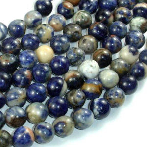 Shop Sodalite Round Beads! Orange Sodalite Beads, 10mm (10.5mm) Round Beads, 15.5 Inch, Full Strand, Approx 39 Beads, Hole 1mm, A Quality (411054021) | Natural genuine round Sodalite beads for beading and jewelry making.  #jewelry #beads #beadedjewelry #diyjewelry #jewelrymaking #beadstore #beading #affiliate #ad