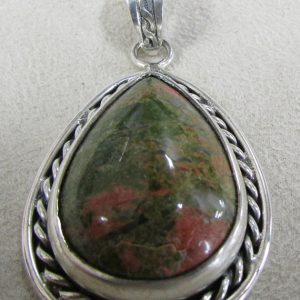 Shop Unakite Pendants! Sterling Silver and Unakite Pendant | Natural genuine Unakite pendants. Buy crystal jewelry, handmade handcrafted artisan jewelry for women.  Unique handmade gift ideas. #jewelry #beadedpendants #beadedjewelry #gift #shopping #handmadejewelry #fashion #style #product #pendants #affiliate #ad