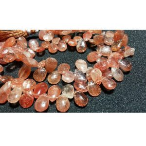 Shop Sunstone Bead Shapes! 13x10mm Sunstone Faceted Pear Shaped Briolettes, Sunstone Pear Beads, Sunstone Faceted Pear Briolettes For Jewelry (10Pcs To 20Pcs Options) | Natural genuine other-shape Sunstone beads for beading and jewelry making.  #jewelry #beads #beadedjewelry #diyjewelry #jewelrymaking #beadstore #beading #affiliate #ad