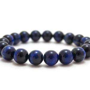 Shop Tiger Eye Jewelry! Blue Tiger Eye Bracelet/ 10mm Blue Tiger Eye/ Blue Stone Bracelet/ Mens Beaded Bracelet | Natural genuine Tiger Eye jewelry. Buy handcrafted artisan men's jewelry, gifts for men.  Unique handmade mens fashion accessories. #jewelry #beadedjewelry #beadedjewelry #shopping #gift #handmadejewelry #jewelry #affiliate #ad