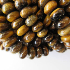 Shop Tiger Eye Rondelle Beads! Tiger Eye Rondelle Beads, Smooth Tiger Eye Beads, 11mm Each, 17 Inch Strand, GDS611 | Natural genuine rondelle Tiger Eye beads for beading and jewelry making.  #jewelry #beads #beadedjewelry #diyjewelry #jewelrymaking #beadstore #beading #affiliate #ad