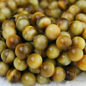 "Shop Tiger Eye Round Beads! Golden Tiger Eye Smooth Round Beads 4mm 6mm 8mm 10mm 12mm 15.5"" Strand 