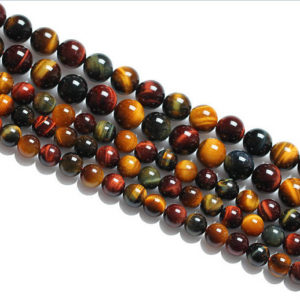 "Shop Tiger Eye Beads! Multi-Color Tiger Eye Smooth Round Beads 4mm 6mm 8mm 10mm 12mm 15.5"" Strand 