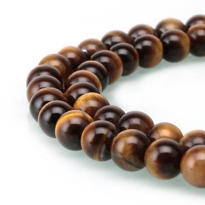 "Shop Tiger Eye Round Beads! You Pick Natural Tiger Eye Gemstone Loose Round Beads 4mm 6mm 8mm 10mm Spacer Beads 15.5"" (1 Strand) #12gsi 