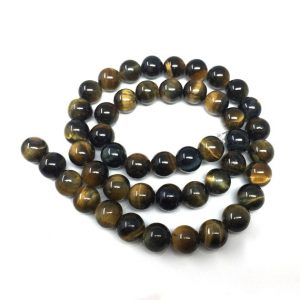 Shop Tiger Eye Round Beads! U Pick Top Quality Natural Blue Golden Tiger's Eye Gemstone 4mm 6mm 8mm 10mm Round Stone Beads 15 inch Per Strand for Jewelry Craft Making | Natural genuine round Tiger Eye beads for beading and jewelry making.  #jewelry #beads #beadedjewelry #diyjewelry #jewelrymaking #beadstore #beading #affiliate #ad