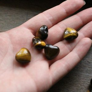 Shop Tiger Eye Shapes! Tiger Eye Small Stone Shaped Puffy Heart H29 | Natural genuine stones & crystals in various shapes & sizes. Buy raw cut, tumbled, or polished gemstones for making jewelry or crystal healing energy vibration raising reiki stones. #crystals #gemstones #crystalhealing #crystalsandgemstones #energyhealing #affiliate #ad