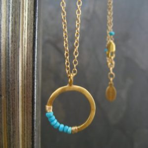 Crescent necklace, turquoise necklace, moon pendant, sleeping beauty, half moon, circle pendant, round circle, faceted turquoise | Natural genuine Turquoise pendants. Buy crystal jewelry, handmade handcrafted artisan jewelry for women.  Unique handmade gift ideas. #jewelry #beadedpendants #beadedjewelry #gift #shopping #handmadejewelry #fashion #style #product #pendants #affiliate #ad