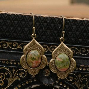 Shop Unakite Jewelry! Unakite Earrings | Natural genuine Unakite jewelry. Buy crystal jewelry, handmade handcrafted artisan jewelry for women.  Unique handmade gift ideas. #jewelry #beadedjewelry #beadedjewelry #gift #shopping #handmadejewelry #fashion #style #product #jewelry #affiliate #ad