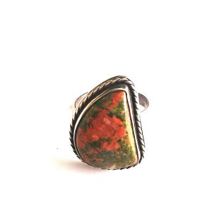 Shop Unakite Rings! Unakite Ring,Silver 925 Ring,Natural Gemstone Ring,Sterling Silver Gemstone Ring,Silver Ring,Stone Ring | Natural genuine Unakite rings, simple unique handcrafted gemstone rings. #rings #jewelry #shopping #gift #handmade #fashion #style #affiliate #ad