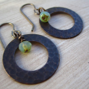Hammered Brass Disc Earrings Project