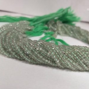 Shop Green Amethyst Beads! Natural Green Amethyst Stone Faceted Beads Strand | Amethyst Jewelry Making Gemstone Beads | Amethyst Wholesale Factory Price Gemstone Beads | Natural genuine faceted Green Amethyst beads for beading and jewelry making.  #jewelry #beads #beadedjewelry #diyjewelry #jewelrymaking #beadstore #beading #affiliate #ad