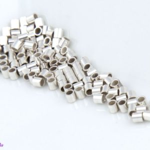 Shop Findings for Jewelry Making! 200 Pcs – 2mm 925 STERLING SILVER Crimp Beads, Tubes, Seamless, Polished, 2×2, 1.6×2, 2 Sizes Available, Made in the USA, SF011 | Shop jewelry making and beading supplies, tools & findings for DIY jewelry making and crafts. #jewelrymaking #diyjewelry #jewelrycrafts #jewelrysupplies #beading #affiliate #ad