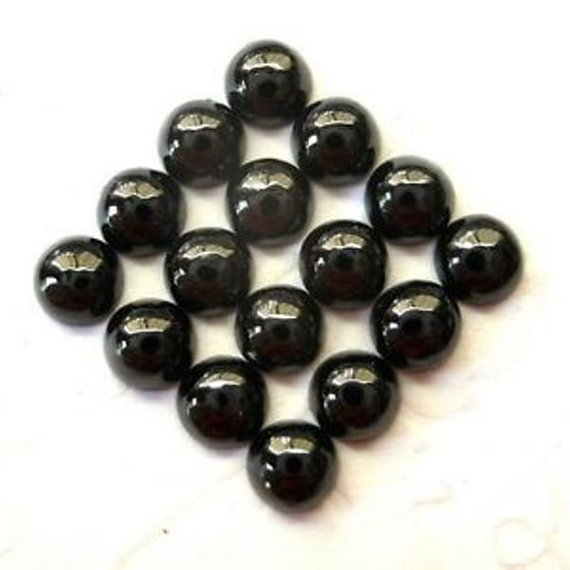 25pieces Black Spinel Round Cabochon Gemstone 100% Natural Aaa Quality Black Spinel Round Cabochon Loose Gemstone- Wholesale