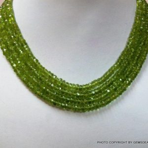 Shop Rondelle Gemstone Beads! 3.5mm Peridot Rondelle Faceted beads micro faceted 13 inch peridot beads rondelle – Peridot Faceted Rondelles -Faceted Peridot | Natural genuine rondelle Gemstone beads for beading and jewelry making.  #jewelry #beads #beadedjewelry #diyjewelry #jewelrymaking #beadstore #beading #affiliate #ad