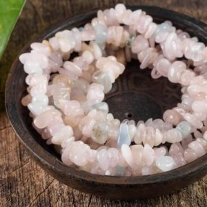 MORGANITE & AQUAMARINE Healing Crystal Chip Beaded Necklace – Bridesmaid Gift, Statement Necklace, Crystal Jewelry, Wedding Gift E0805 | Natural genuine Gemstone necklaces. Buy handcrafted artisan wedding jewelry.  Unique handmade bridal jewelry gift ideas. #jewelry #beadednecklaces #gift #crystaljewelry #shopping #handmadejewelry #wedding #bridal #necklaces #affiliate #ad