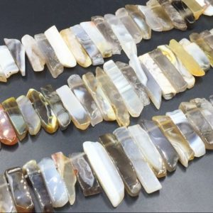 Shop Agate Bead Shapes! Botswana Agate Slice Beads Loose Agate Stick Slice Bar Beads Top Drilled Agate Gemstone bead Supplies 8-13mm*20-45mm full strand | Natural genuine other-shape Agate beads for beading and jewelry making.  #jewelry #beads #beadedjewelry #diyjewelry #jewelrymaking #beadstore #beading #affiliate #ad