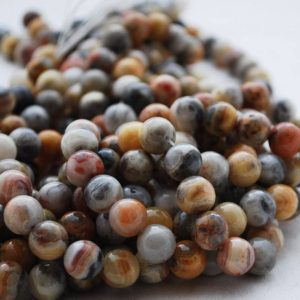 "Shop Crazy Lace Agate Beads! High Quality Grade A Natural Crazy Lace Agate Semi-precious Gemstone Round Beads – 4mm, 6mm, 8mm, 10mm sizes – Approx 16"" strand 