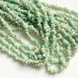 Shop Amazonite Chip Beads! Amazonite Chips, Amazonite Beads, Natural Amazonite Chips, Amazonite Necklace, 4-6mm, 32 Inch – RAMA58 | Natural genuine chip Amazonite beads for beading and jewelry making.  #jewelry #beads #beadedjewelry #diyjewelry #jewelrymaking #beadstore #beading #affiliate