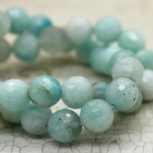 Shop Amazonite Faceted Beads! Amazonite Faceted Round Gemstone Beads | Natural genuine faceted Amazonite beads for beading and jewelry making.  #jewelry #beads #beadedjewelry #diyjewelry #jewelrymaking #beadstore #beading #affiliate #ad