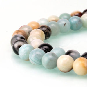 "Shop Amazonite Round Beads! 2.0mm Hole Multi-Color Amazonite Smooth Round Beads 6mm 8mm 10mm 12mm 15.5"" strand 