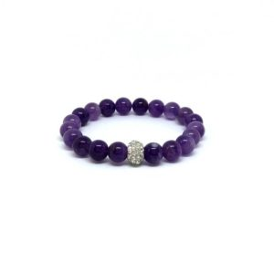 Shop Amethyst Bracelets! Amethyst bracelet – February birthstone | Natural genuine Amethyst bracelets. Buy crystal jewelry, handmade handcrafted artisan jewelry for women.  Unique handmade gift ideas. #jewelry #beadedbracelets #beadedjewelry #gift #shopping #handmadejewelry #fashion #style #product #bracelets #affiliate #ad