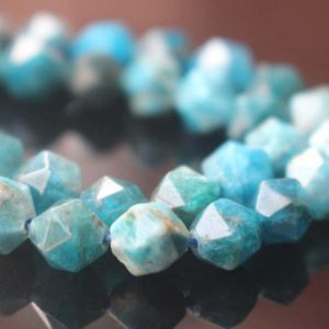 Natural Faceted Apatite Star Cut Nugget Beads,15 inches one starand | Natural genuine chip Apatite beads for beading and jewelry making.  #jewelry #beads #beadedjewelry #diyjewelry #jewelrymaking #beadstore #beading #affiliate #ad