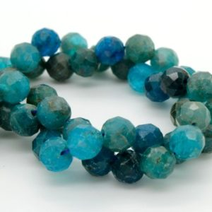 Shop Apatite Faceted Beads! Natural Apatite Faceted Round Ball Sphere Loose Gemstone Beads | Natural genuine faceted Apatite beads for beading and jewelry making.  #jewelry #beads #beadedjewelry #diyjewelry #jewelrymaking #beadstore #beading #affiliate #ad