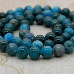 Apatite Beads – Round Natural Gemstone Mala Bead (4mm 6mm 8mm 10mm) | Natural genuine beads Gemstone beads for beading and jewelry making.  #jewelry #beads #beadedjewelry #diyjewelry #jewelrymaking #beadstore #beading #affiliate #ad