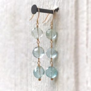 Shop Aquamarine Earrings! Aqua Earrings – Aquamarine Gemstone Jewellery -14k Gold Jewelry – Dangle – Luxe | Natural genuine Aquamarine earrings. Buy crystal jewelry, handmade handcrafted artisan jewelry for women.  Unique handmade gift ideas. #jewelry #beadedearrings #beadedjewelry #gift #shopping #handmadejewelry #fashion #style #product #earrings #affiliate #ad