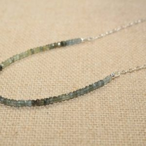 Shop Aquamarine Necklaces! Moss Aquamarine Necklace, Multi color, Moss Aquamarine Jewelry, Ombre Necklace, March Birthstone | Natural genuine Aquamarine necklaces. Buy crystal jewelry, handmade handcrafted artisan jewelry for women.  Unique handmade gift ideas. #jewelry #beadednecklaces #beadedjewelry #crystaljewelry #gemstonejewelry #handmadejewelry #necklaces #affiliate
