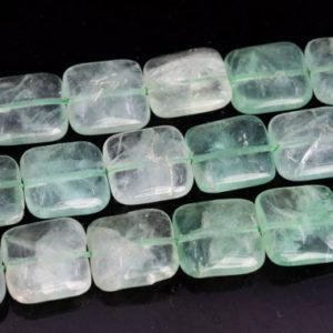 "Shop Aventurine Bead Shapes! 15x15MM Parsley Bunch Aventurine Beads Square Grade AAA Genuine Natural Gemstone Loose Beads 15"" BULK LOT 1,3,5,10 and 50 (102800-475) 